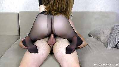 Teen Big Ass in Nylon Pantyhose Orgasm Pussyjob