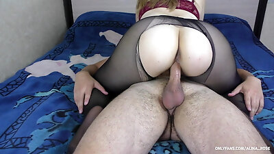 My boyfriend fucked me after school in ripped pantyhose