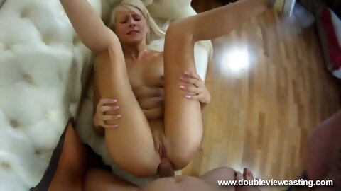 A Porn Casting With A Beautiful Blonde Fucked